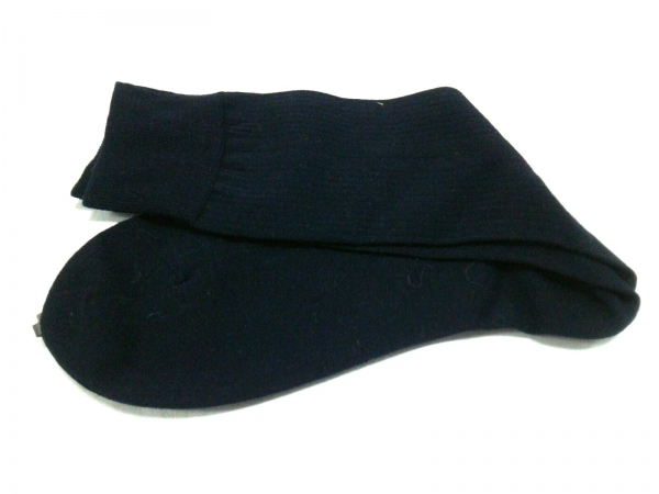 ダンヒル 小物 25新品同様  ダークネイビー 靴下 コットン 2