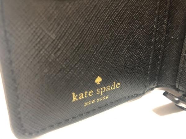ケイトスペード 2つ折り財布 - WLRU2664 ピンクベージュ×黒 レザー 5
