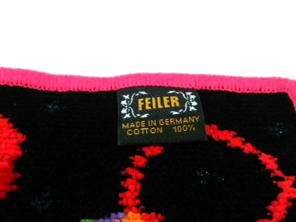 FEILER(フェイラー) 小物新品同様  - 黒×レッド×マルチ コットン 3