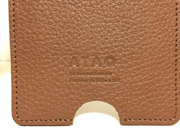 ATAO(アタオ) パスケース新品同様  - ブラウン レザー 3