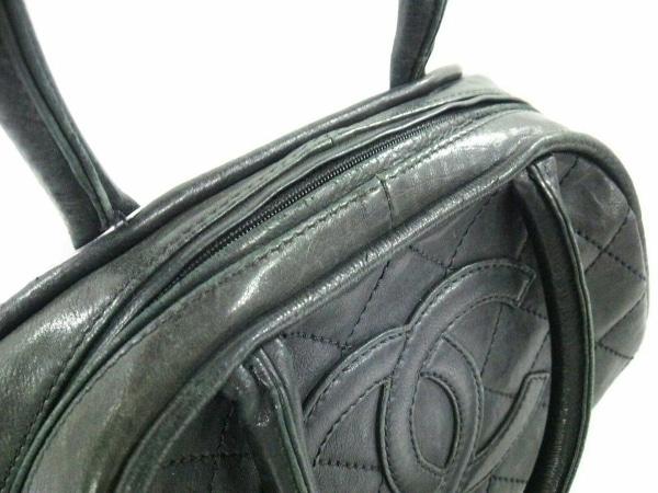 CHANEL(シャネル) ハンドバッグ ワイルドステッチ 黒 ラムスキン 9