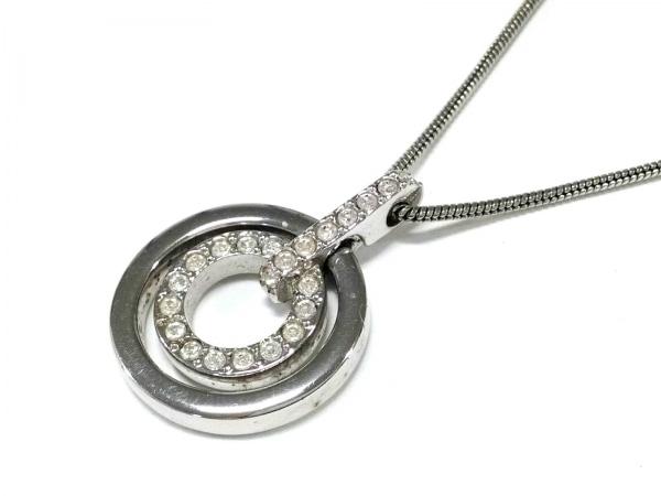 スワロフスキー ネックレス - 金属素材×スワロフスキークリスタル 1