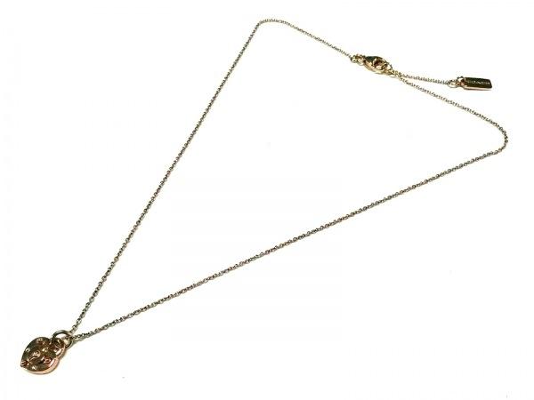 COACH(コーチ) ネックレス - シルバー ピンクゴールド ハート 2