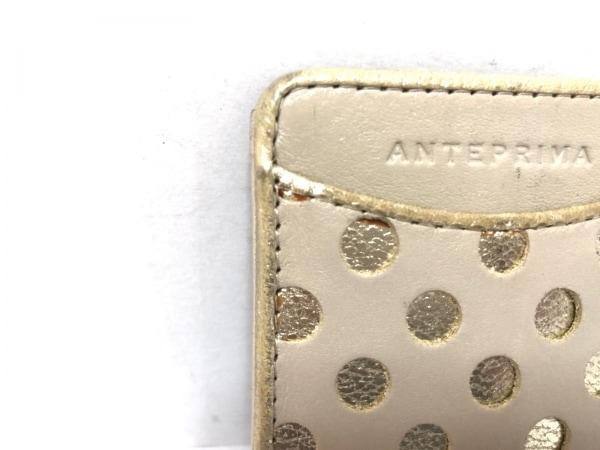 ANTEPRIMA(アンテプリマ) パスケース - ベージュ×ゴールド レザー 5