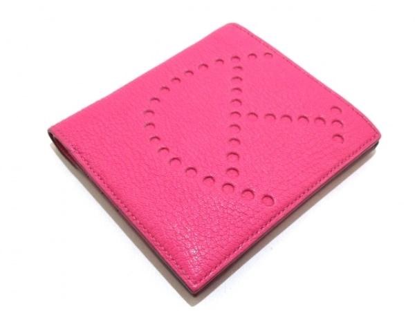 エルメス 札入れ美品  エブリンコンパクト ピンク イニシャル刻印 8