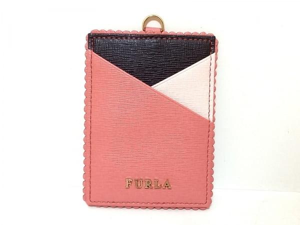 FURLA(フルラ) パスケース - ピンク×黒×ライトピンク レザー 1