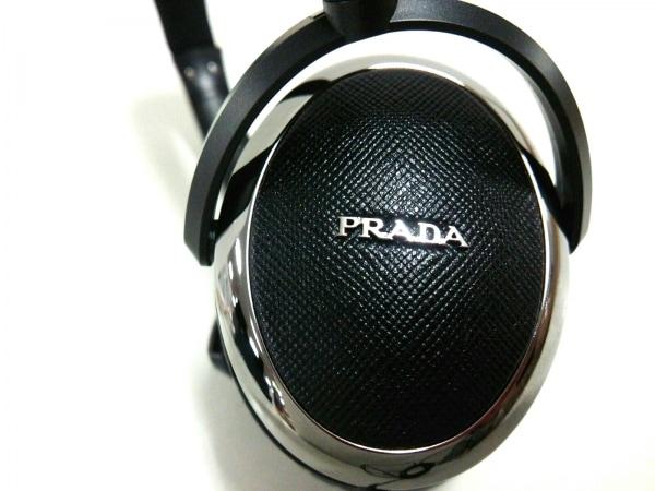 PRADA(プラダ) 小物美品  黒×シルバー ヘッドフォン 3