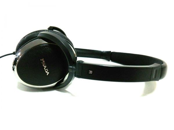 PRADA(プラダ) 小物美品  黒×シルバー ヘッドフォン 4