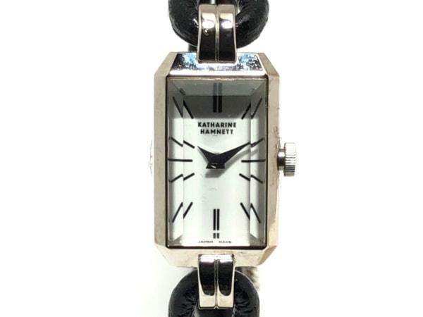 キャサリンハムネット 腕時計 KH-8005 レディース 革ベルト 白 1