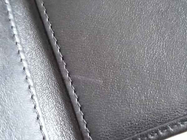 ジミーチュウ 3つ折り財布美品  ネモ 黒×シルバー レザー 6
