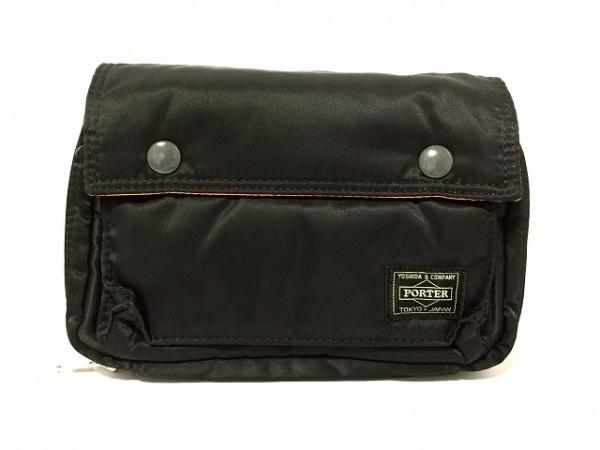 ポーター 財布美品  タンカー 黒 ショルダーウォレット ナイロン 1