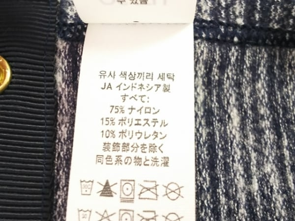 ルルレモン マフラー美品  黒×白 スヌード ナイロン×ポリウレタン 4
