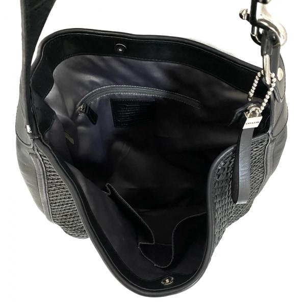 COACH(コーチ) ショルダーバッグ美品  - F29894 黒×ダークグレー 7