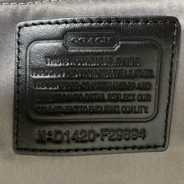 COACH(コーチ) ショルダーバッグ美品  - F29894 黒×ダークグレー 8