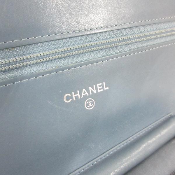 CHANEL(シャネル) 財布 - A48654 ライトブルー キャビアスキン 5