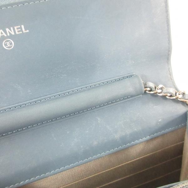 CHANEL(シャネル) 財布 - A48654 ライトブルー キャビアスキン 7