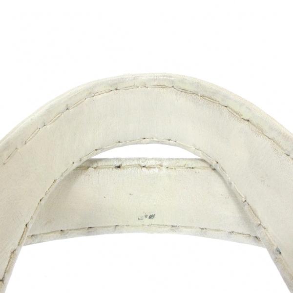 シャネル ハンドバッグ ワイルドステッチ A14692 白×ネイビー 9