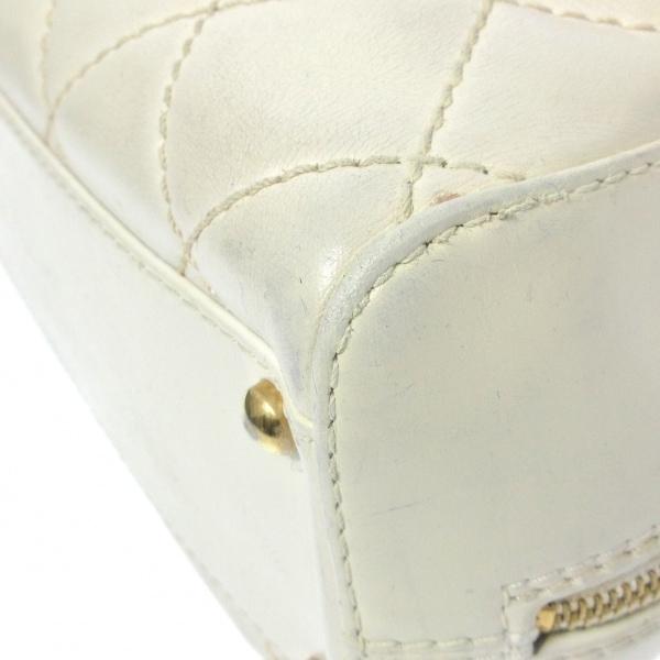 シャネル ハンドバッグ ワイルドステッチ A18121 白 ゴールド金具 5