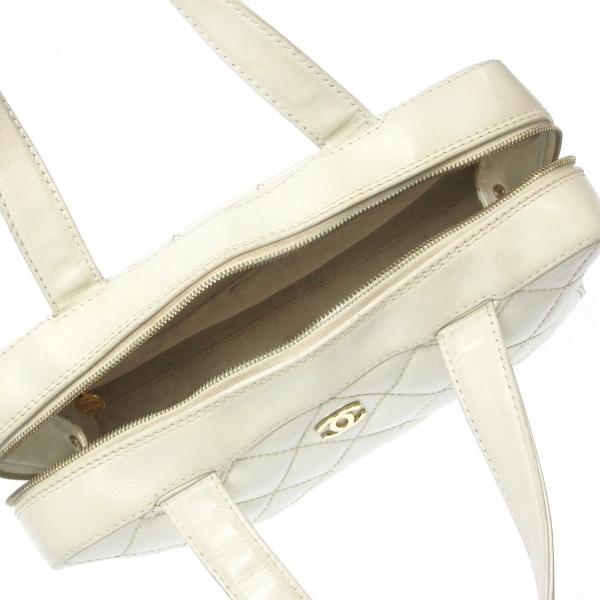 シャネル ハンドバッグ ワイルドステッチ A18121 白 ゴールド金具 6