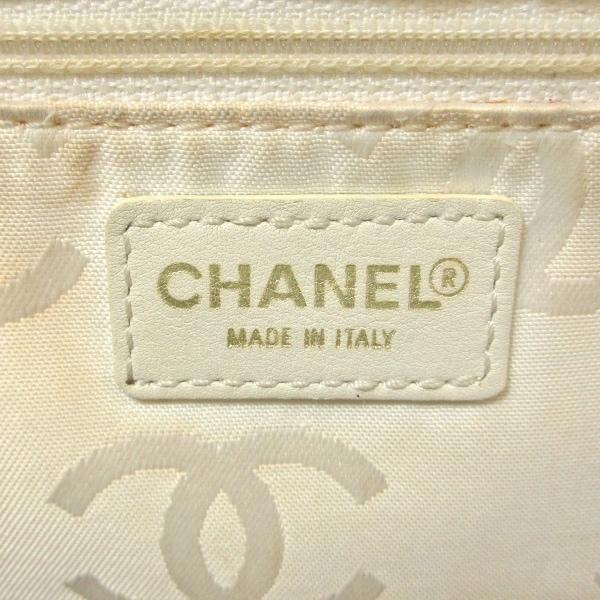 シャネル ハンドバッグ ワイルドステッチ A18121 白 ゴールド金具 7