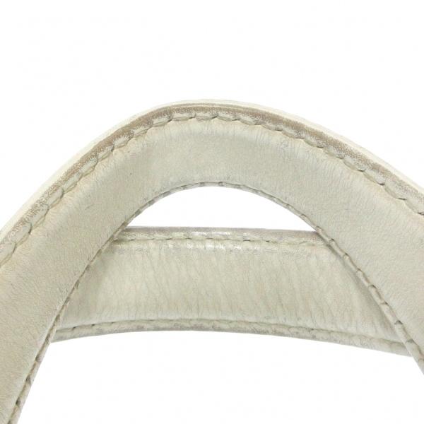 シャネル ハンドバッグ ワイルドステッチ A18121 白 ゴールド金具 9