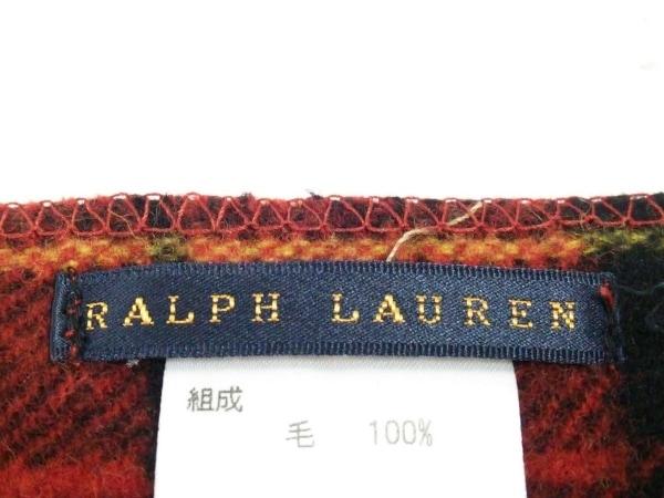 ラルフローレン ブランケット美品  - レッド×黒×マルチ チェック柄 3