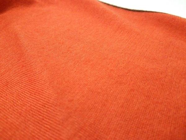 エルメス ストール(ショール)美品  - オレンジ×ダークブラウン 4