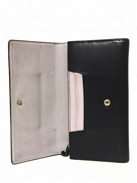 ケイトスペード 長財布 - PWRU5429 グレーベージュ×黒 レザー 3