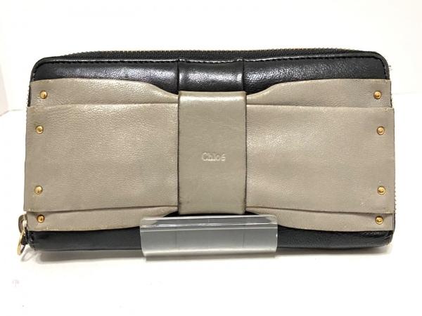 Chloe(クロエ) 長財布 - 3P0090-733 黒×ダークグレー レザー 1
