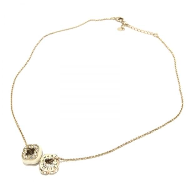 アンテプリマ ネックレス - 金属素材×ラインストーン フラワー(花) 2