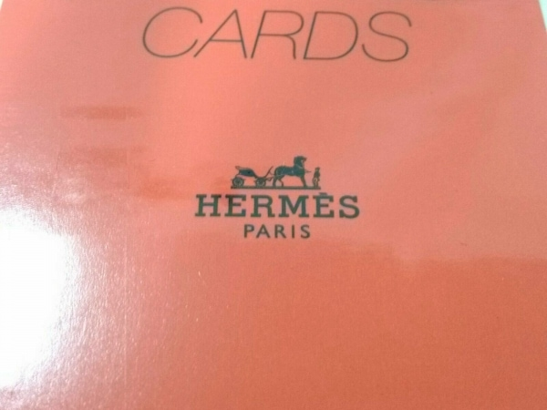 HERMES(エルメス) 小物新品同様  オレンジ ペーパー 3