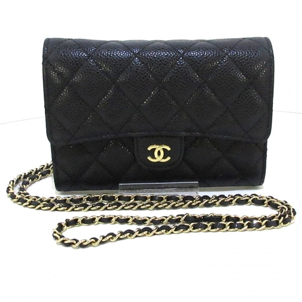 CHANEL(シャネル) 財布美品  マトラッセ A84512 黒 キャビアスキン 1
