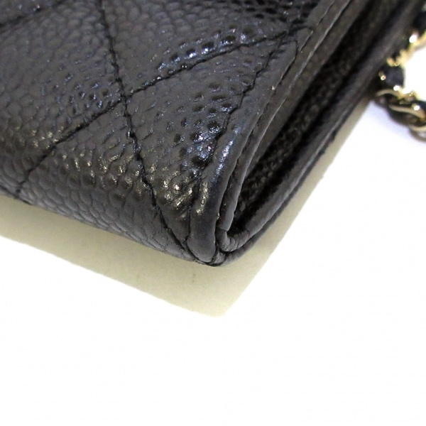 CHANEL(シャネル) 財布美品  マトラッセ A84512 黒 キャビアスキン 7