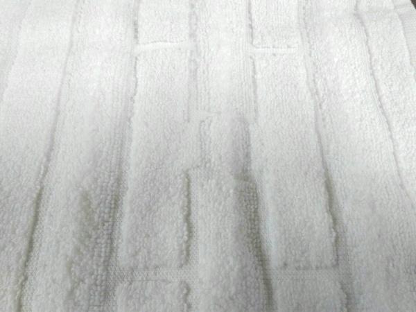 エルメス 小物新品同様  アイボリー×オレンジ タオル×2 コットン 6