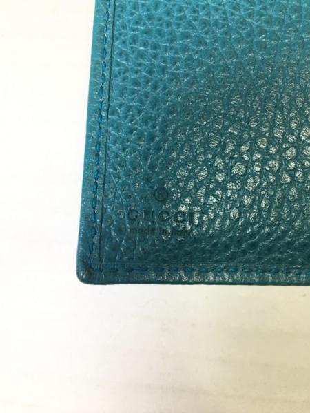 GUCCI(グッチ) パスケース - 354500 ブルーグリーン レザー 4