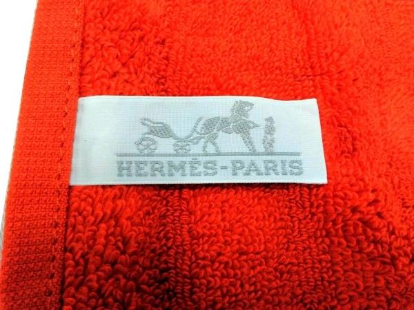 HERMES(エルメス) 小物美品  - オレンジ ハンドタオル コットン 3