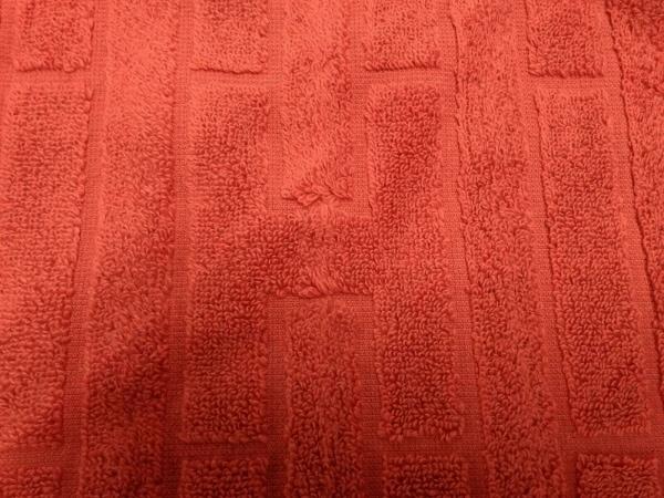 HERMES(エルメス) 小物美品  - オレンジ ハンドタオル コットン 4
