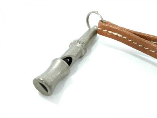 HERMES(エルメス) 小物 - ブラウン×シルバー 犬笛 レザー×金属素材 4