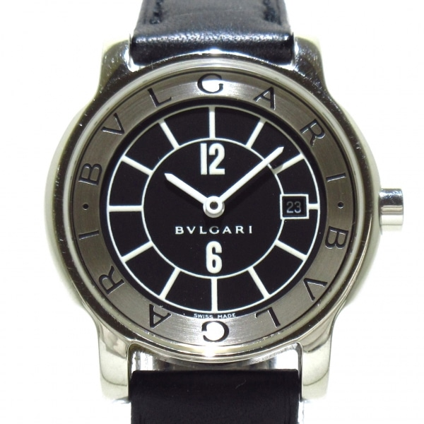 ブルガリ 腕時計 ソロテンポ ST29S レディース 黒×シルバー 1