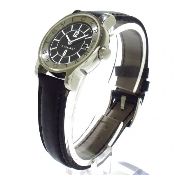 ブルガリ 腕時計 ソロテンポ ST29S レディース 黒×シルバー 2