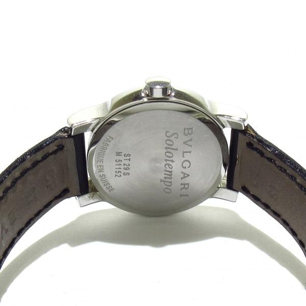 ブルガリ 腕時計 ソロテンポ ST29S レディース 黒×シルバー 3
