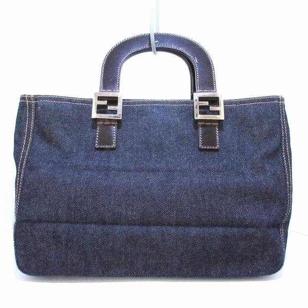 フェンディ トートバッグ美品  - 26329 ブルー×ダークブラウン 1