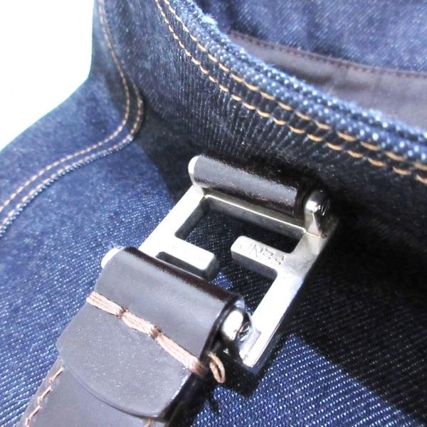 フェンディ トートバッグ美品  - 26329 ブルー×ダークブラウン 10