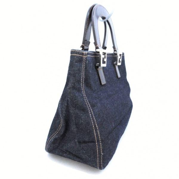 フェンディ トートバッグ美品  - 26329 ブルー×ダークブラウン 2