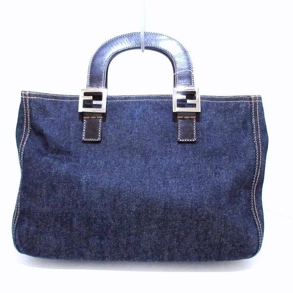 フェンディ トートバッグ美品  - 26329 ブルー×ダークブラウン 3