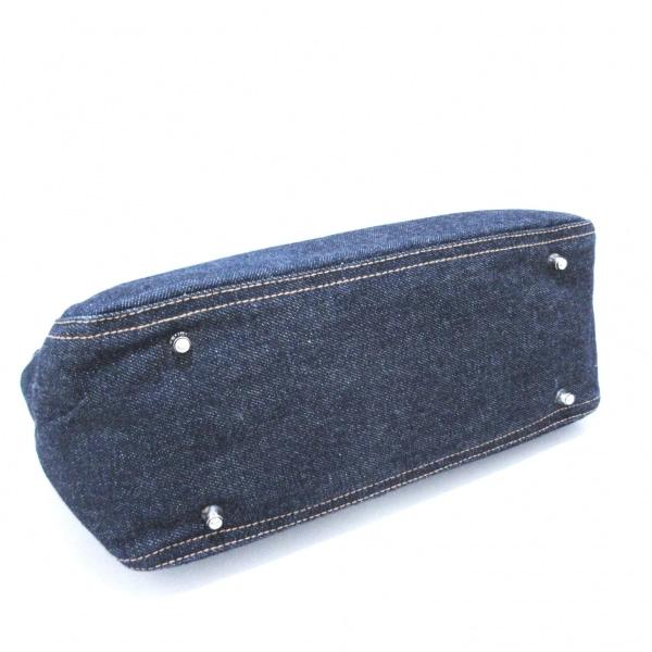フェンディ トートバッグ美品  - 26329 ブルー×ダークブラウン 4