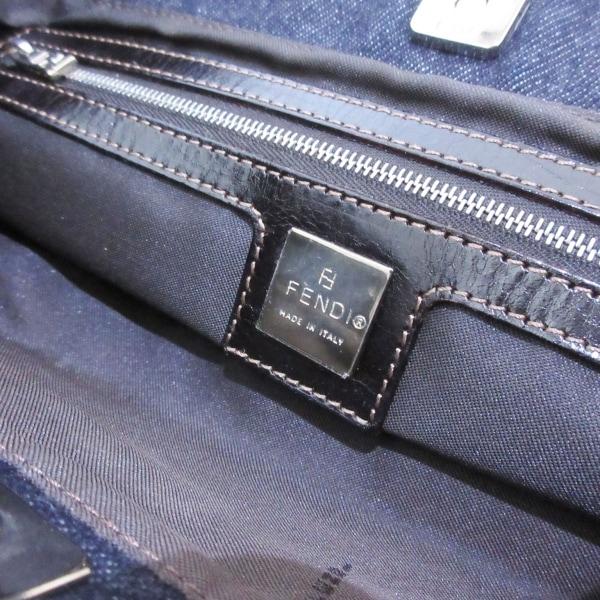 フェンディ トートバッグ美品  - 26329 ブルー×ダークブラウン 7