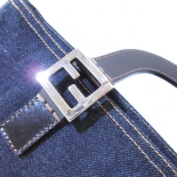 フェンディ トートバッグ美品  - 26329 ブルー×ダークブラウン 8