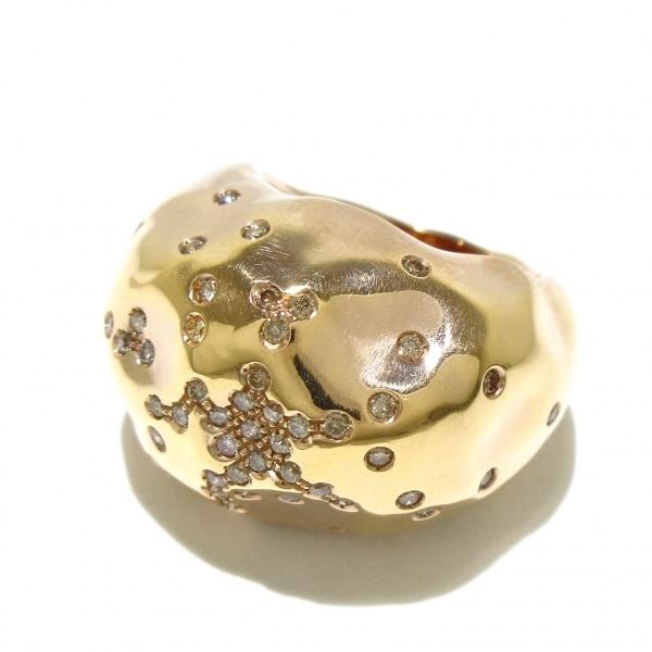 アントニーニ リング美品  アニバーサリー K18PG×ダイヤモンド 8