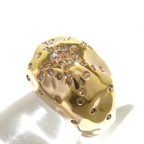 アントニーニ リング美品  アニバーサリー K18PG×ダイヤモンド 9